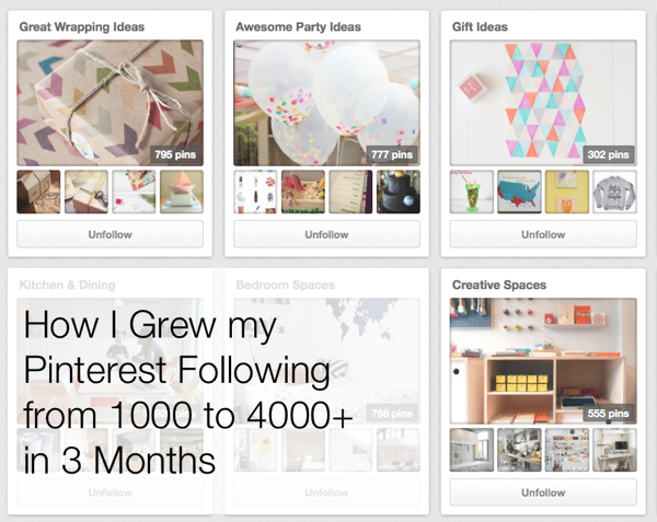 how I grew my Pinterest followers
