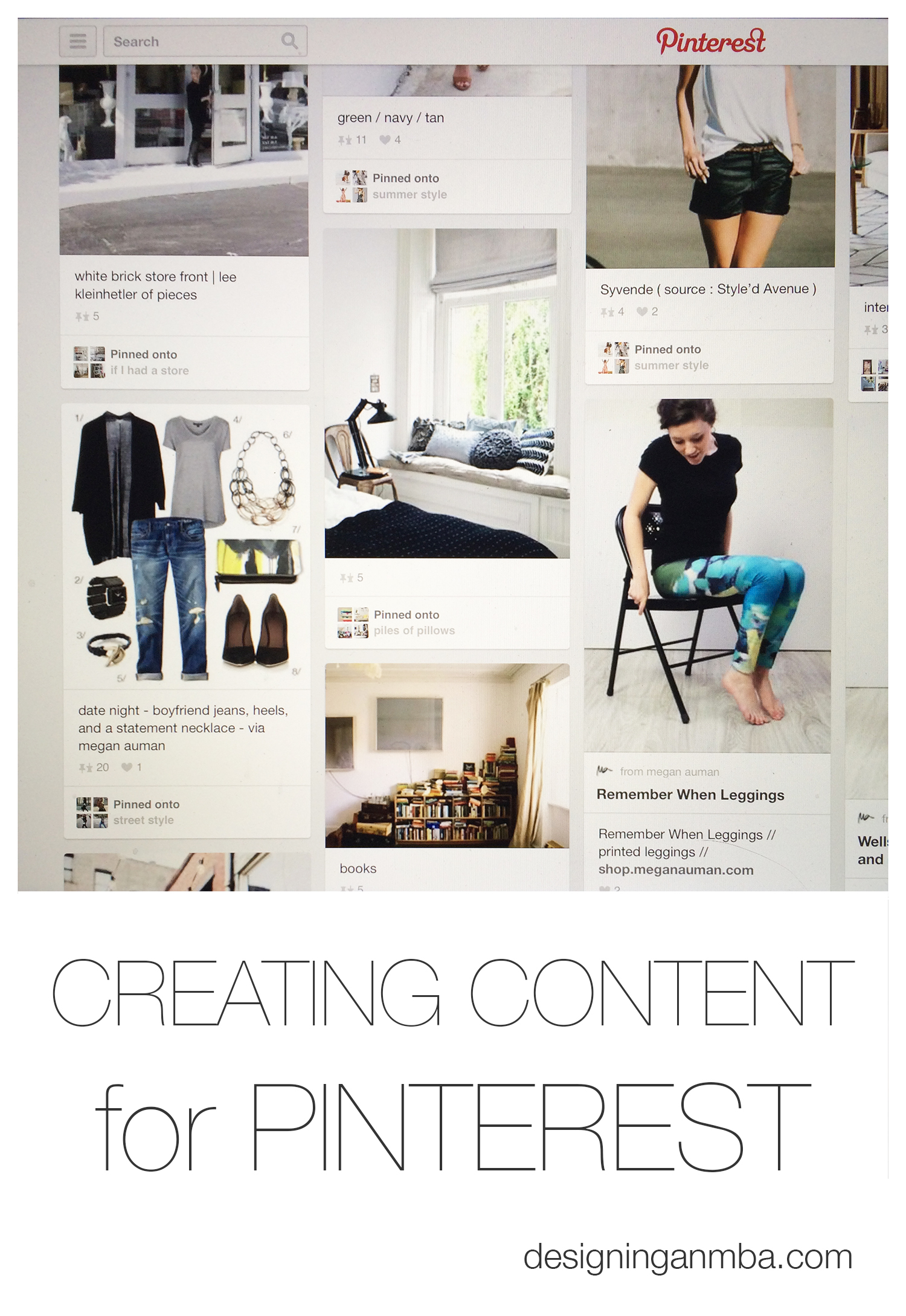 creating content for Pinterest