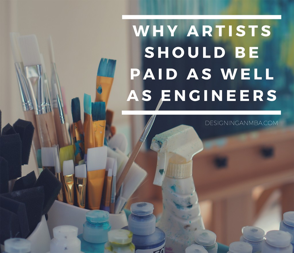 why artists should be paid as well as engineers via designing an mba